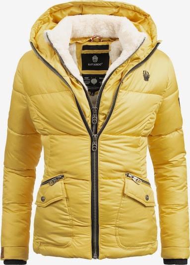 NAVAHOO Winterjas 'Megan' in de kleur Crème / Geel / Zwart, Productweergave