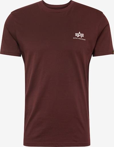 ALPHA INDUSTRIES Shirt in weinrot, Produktansicht