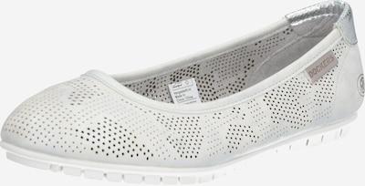 Dockers by Gerli Ballerina i silvergrå / vit, Produktvy