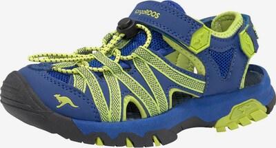 KangaROOS Sandale 'KT-Osato' in blau / kiwi, Produktansicht