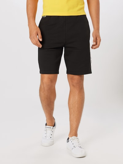 LACOSTE Kalhoty - černá / bílá: Pohled zepředu