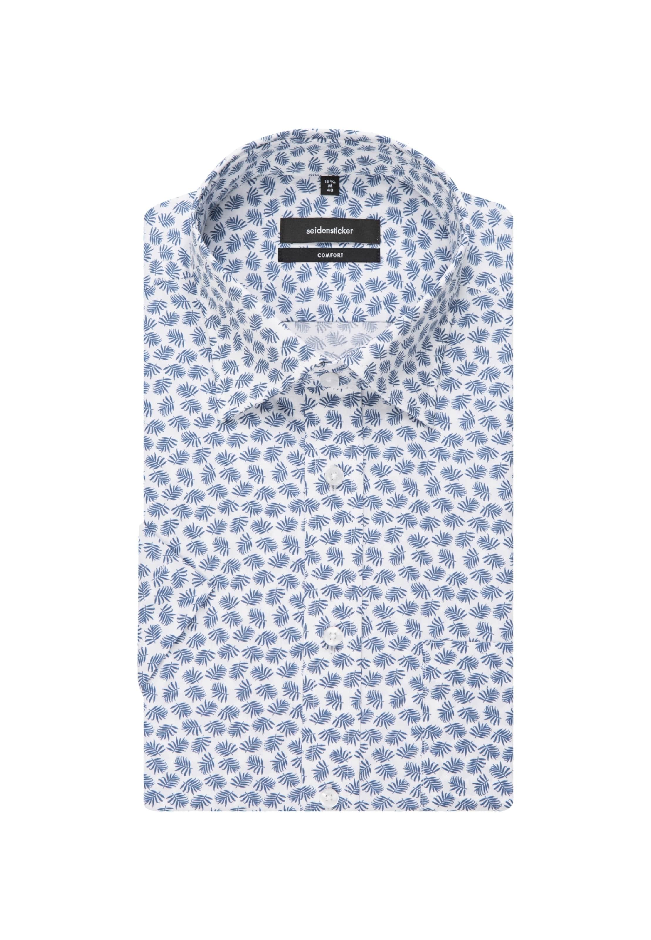 Seidensticker Comfort BlauWeiß ' In Hemd Rj5LA4