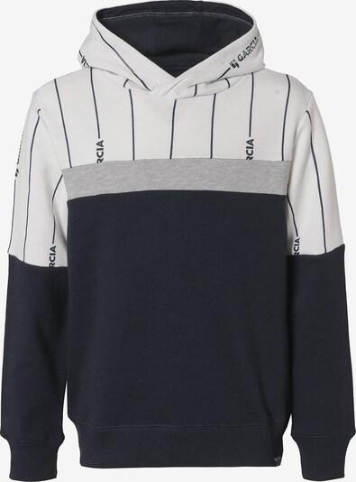 GARCIA Sweatshirt in nachtblau / graumeliert / weiß, Produktansicht