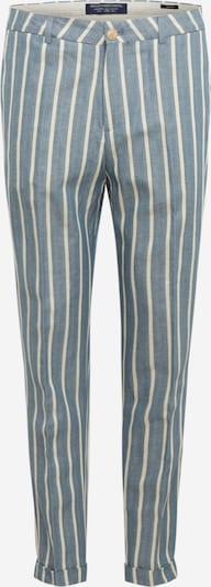 SCOTCH & SODA Hose 'FAVE - Organic cotton chino in herringbo' in rauchblau / weiß, Produktansicht