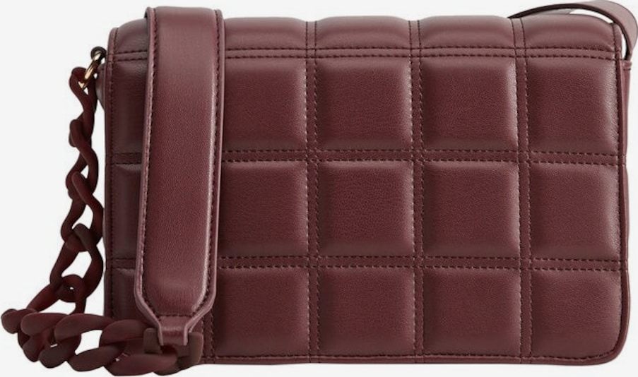 VIOLETA by Mango Schoudertas 'min matt' in de kleur Bordeaux, Productweergave