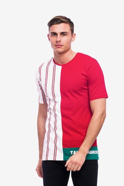 Tom Barron Gestreiftes Rundhalsshirt in rot / weiß, Produktansicht