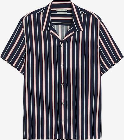 MANGO MAN Hemd 'Teka' in navy / rot / weiß, Produktansicht