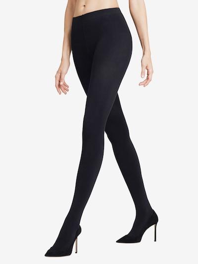 FALKE Hlačne nogavice 'Warm Deluxe 80 DEN'   črna barva: Frontalni pogled