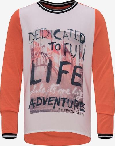 Petrol Industries Shirt in de kleur Gemengde kleuren / Donkeroranje, Productweergave
