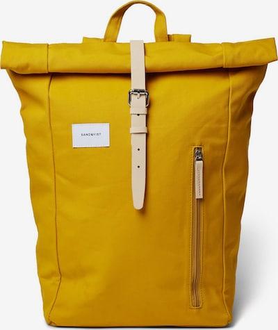 SANDQVIST Rucksack 'Dante' in gelb, Produktansicht