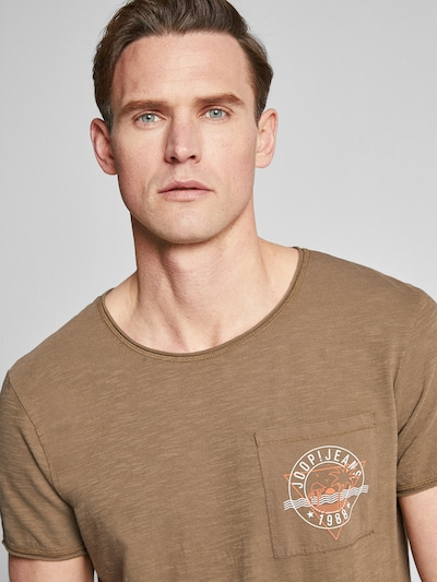 JOOP! Jeans T-Shirt  'Cain' in khaki: Frontalansicht