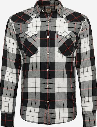 LEVI'S Košulja 'Barstow' u siva / pastelno crvena / crna / bijela, Pregled proizvoda