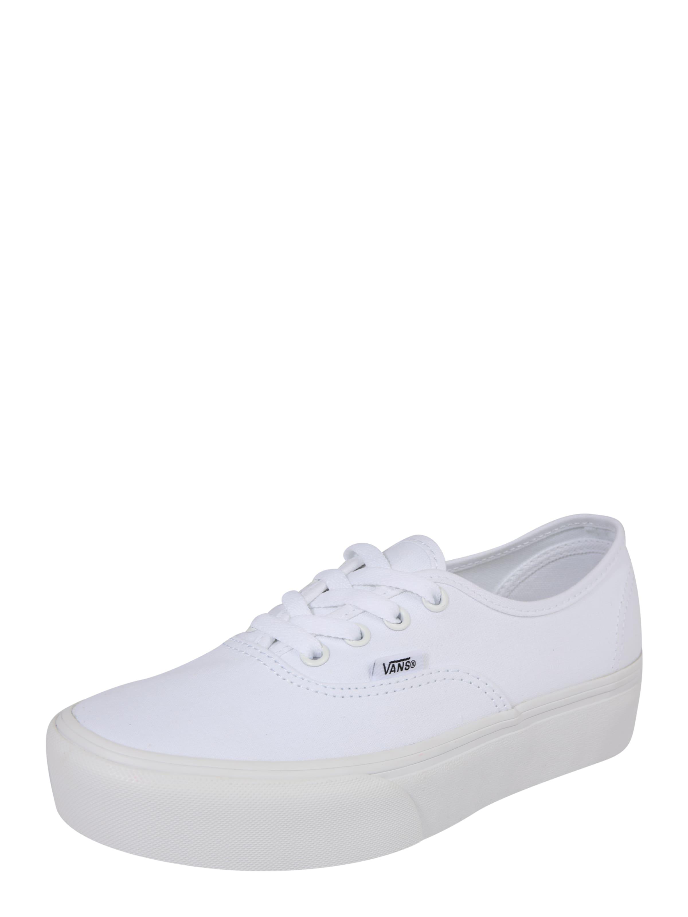 Vans 'ua Platform Blanc 0' Authentic Baskets En 2 Basses 2YDWEI9H