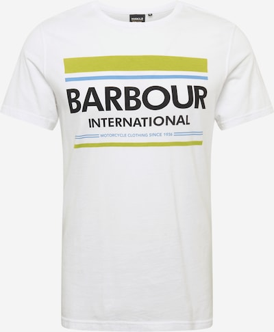 Barbour International T-Shirt en blanc, Vue avec produit