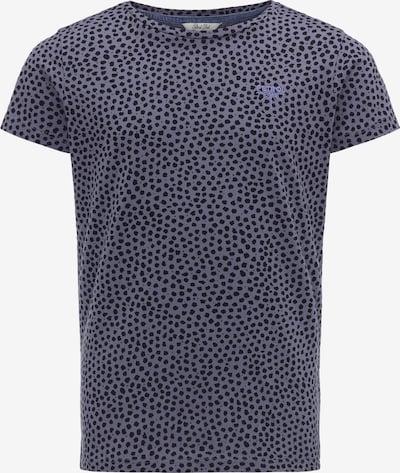 Petrol Industries T-Shirt in taubenblau / schwarz, Produktansicht