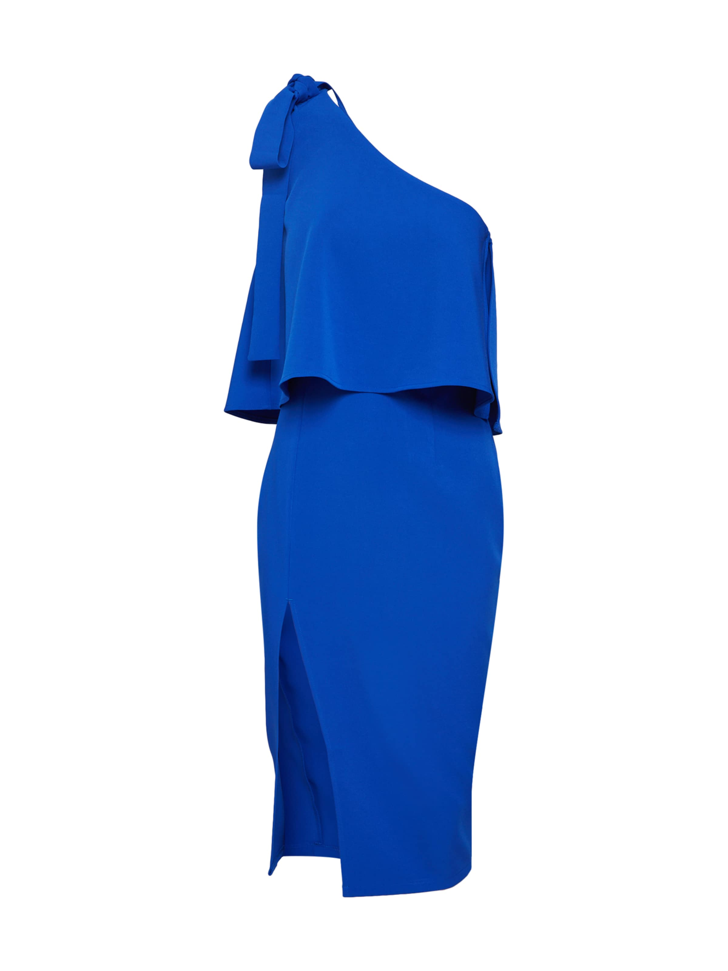 fedca2a68517c8 Missguided Midi Cocktailjurk  blue One Dress  Blauw Sleeve Shoulder Crepe  Bow In rdCBeWQxEo