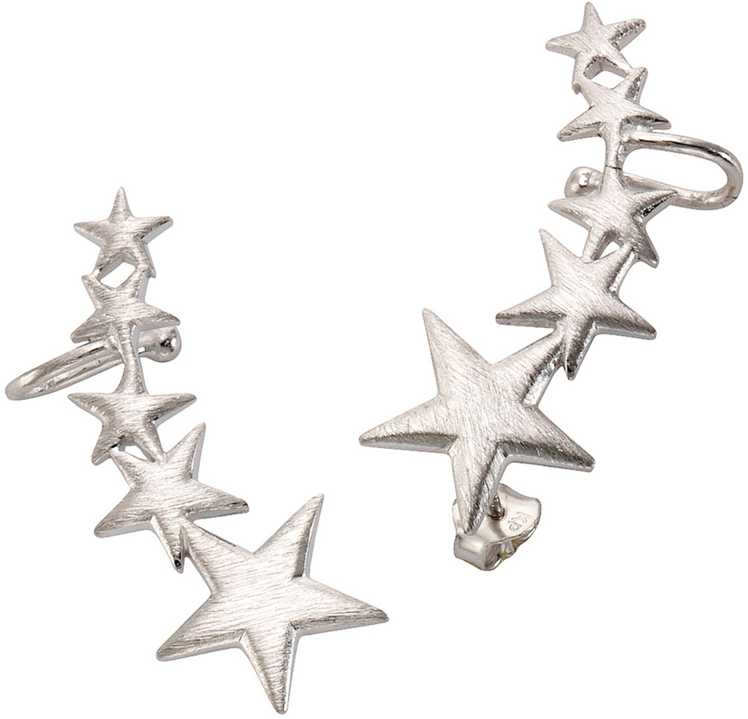FIRETTI Ohrstecker mit Uhrklemme 'Ear Cuffs, Sterne'