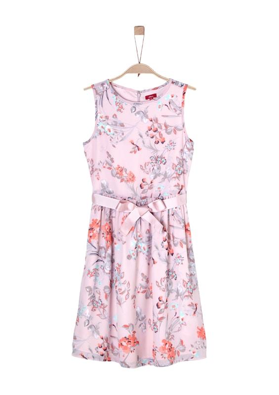 s.Oliver Junior Festliches Kleid mit Blumenmuster in pink ...