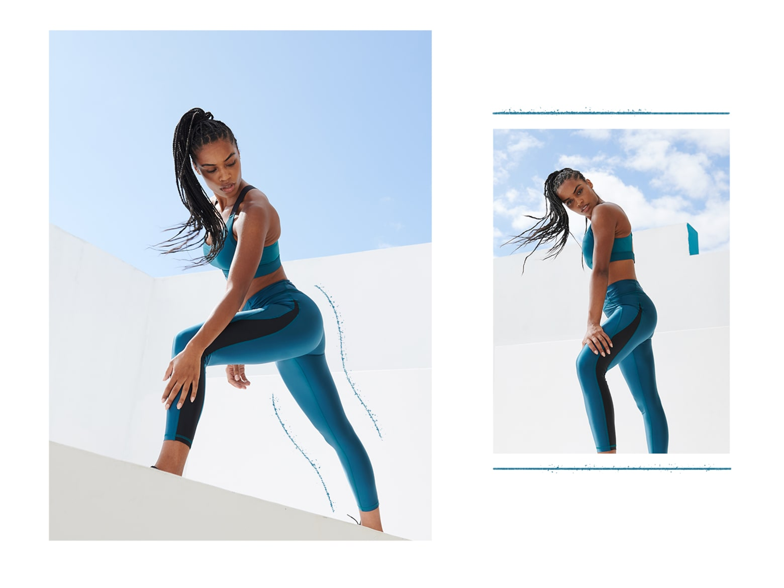 Nathalie A. - Turquoise Fitness Look