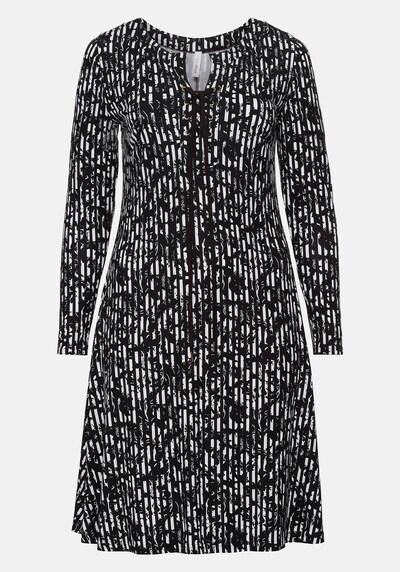 SHEEGO Jerseykleid in schwarz / weiß, Produktansicht