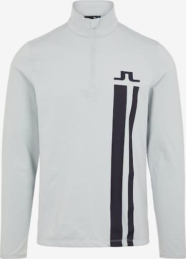 J.Lindeberg Golf  Shirt  'Bose Quarter Zip' in hellgrau / schwarz, Produktansicht