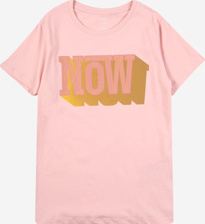 NAME IT T-Shirt 'JIO' en jaune d'or / rose, Vue avec produit