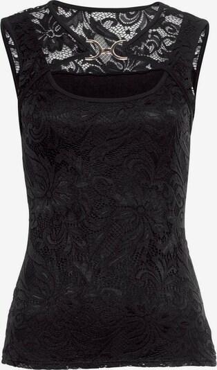 MELROSE Spitzentop in schwarz, Produktansicht
