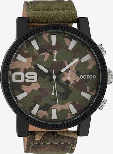 OOZOO Quarzuhr 'C10066' in braun / oliv / schwarz, Produktansicht