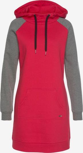 BUFFALO Sweatkleid in grau / rot, Produktansicht