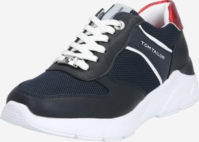 TOM TAILOR Sneaker in violettblau / hellrot / schwarz, Produktansicht