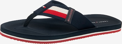 TOMMY HILFIGER Teenslippers in de kleur Donkerblauw / Rood / Wit, Productweergave