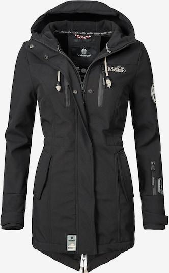 MARIKOO Mantel 'Zimtzicke' in schwarz / weiß, Produktansicht
