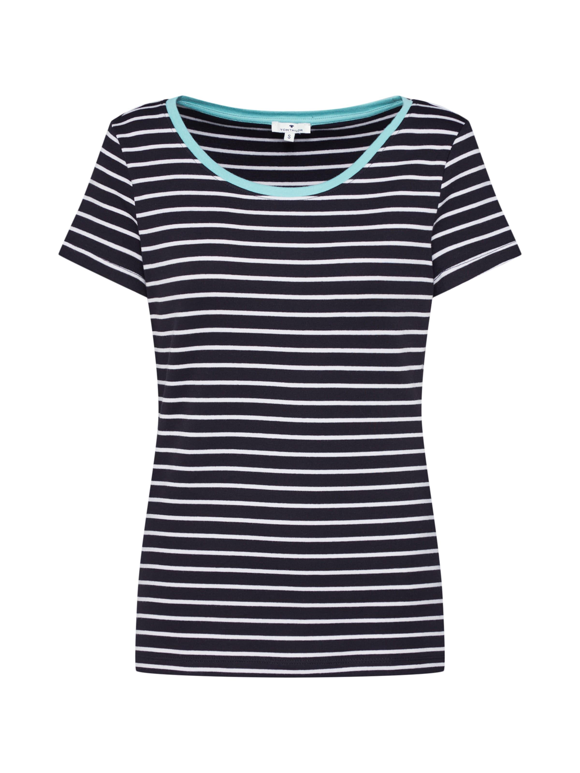shirt Tom T Tailor Blanc En TurquoiseNoir OXuiZTPk