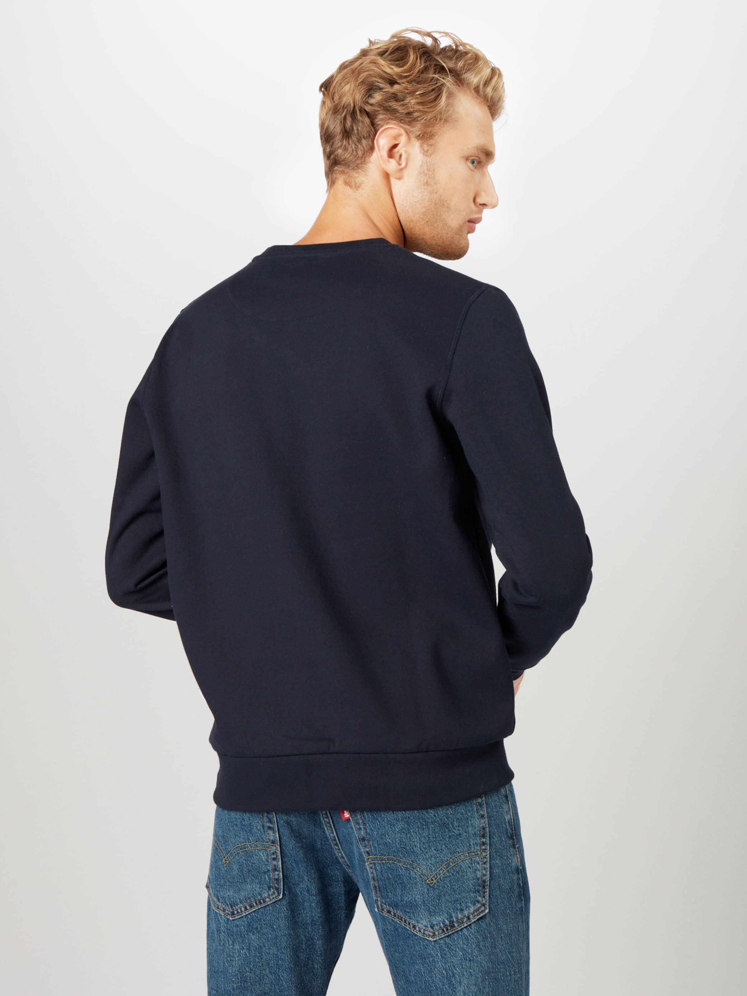 Kronstadt Sweatshirt 'Lars' i marinblå / röd / vit