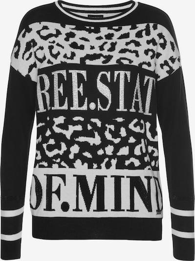 BRUNO BANANI Pullover in schwarz / weiß, Produktansicht