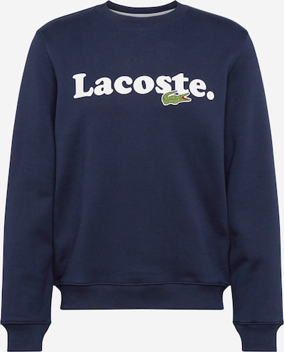 LACOSTE Majica | marine / bela barva, Prikaz izdelka