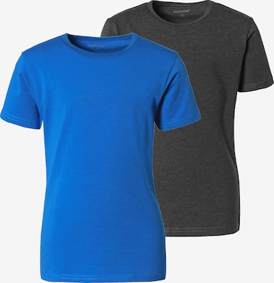 MINYMO T-Shirt in blau / basaltgrau, Produktansicht