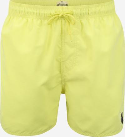 RIP CURL Shorts de bain 'OFFSET 15'' VOLLEY ' en jaune, Vue avec produit