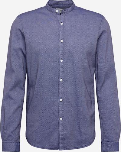 TOM TAILOR DENIM Hemd 'structured shirt' in dunkelblau, Produktansicht