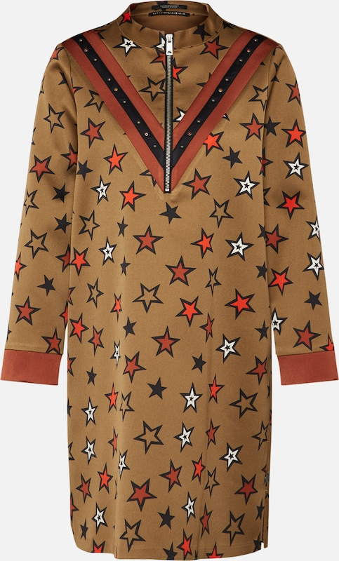 Robe ' En Rouille Soda Scotchamp; NoisetteRouge Print' Star bv76yYfg
