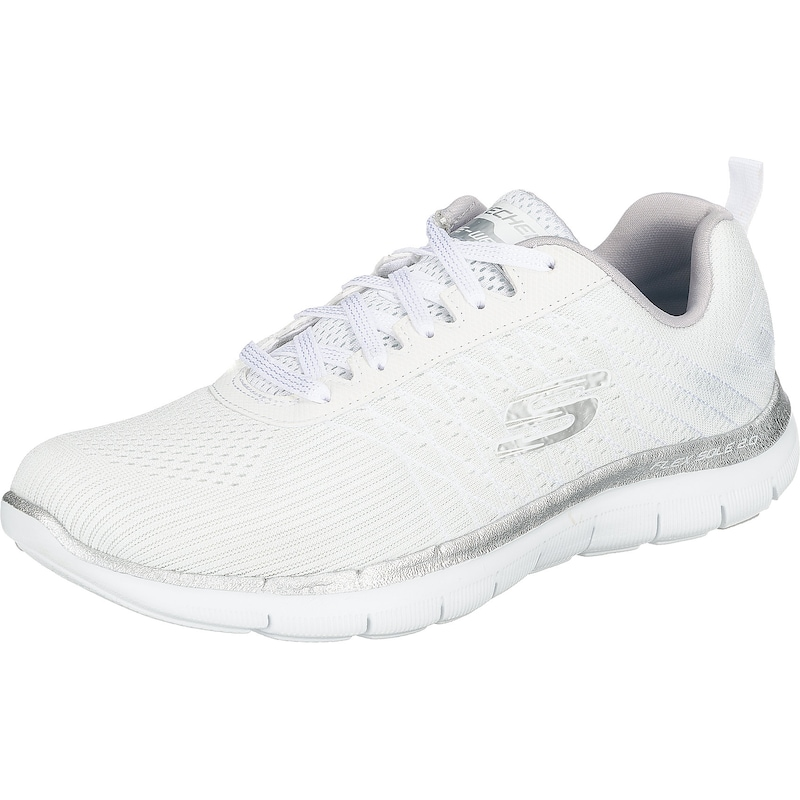 SKECHERS Sneaker 'Flex Appeal 2.0 Break Free' in silber