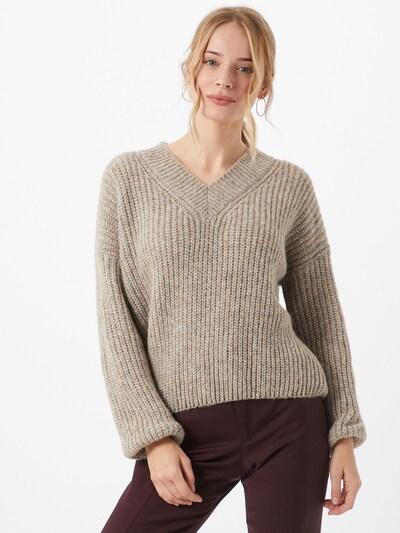 iBlues Pullover 'Isolana' in braun / grau, Modelansicht