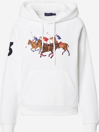 POLO RALPH LAUREN Sweatshirt i brun / röd / svart / vit, Produktvy