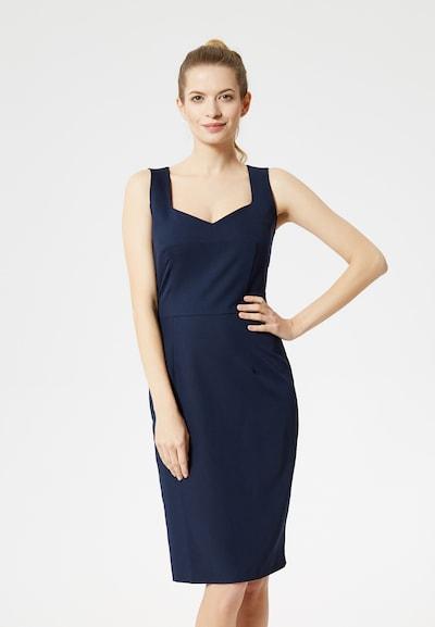 DREIMASTER Kleid in dunkelblau, Modelansicht