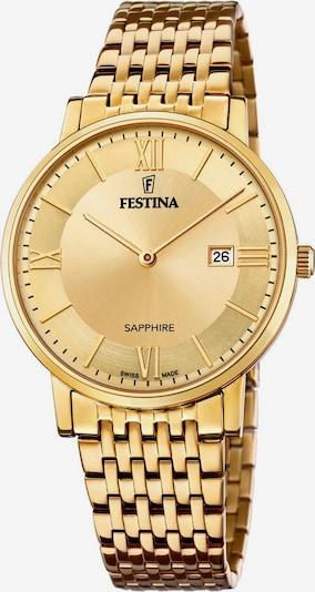FESTINA Festina Schweizer Uhr »Festina Swiss Made, F20020/2« in gold, Produktansicht