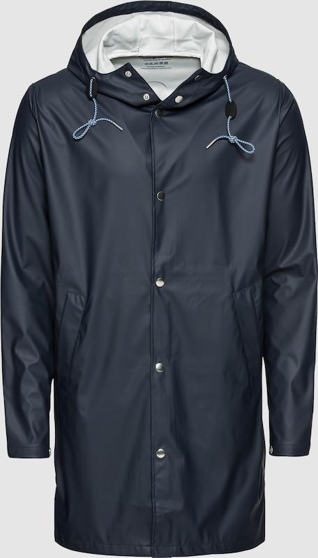 KnowledgeCotton Apparel Mantel 'Long Rain Jacket' in dunkelblau  Neu in diesem Quartal