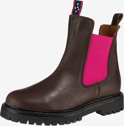 JOLANA & FENENA Chelsea Boots in Brown / Dark pink, Item view