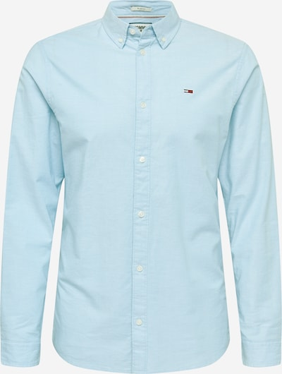 Tommy Jeans Hemd 'Oxford' in pastellblau: Frontalansicht