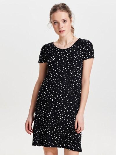 ONLY Kleid 'ONLBera' in schwarz / naturweiß, Modelansicht