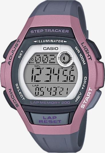CASIO Digitaluhr in graumeliert / hellpink, Produktansicht
